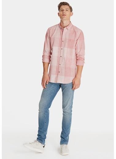 Mavi Kareli Gömlek Kırmızı
